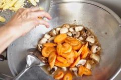 Stir fry cap cai Stock Image