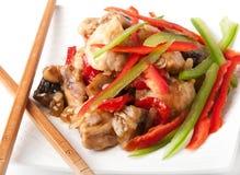 Stir fry chicken Stock Image