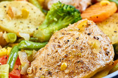 Stir fry chicken fillet Royalty Free Stock Photos
