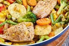 Stir fry chicken fillet Stock Images