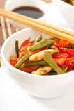 Stir fry chicken Stock Photo
