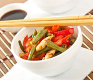 Stir fry chicken Royalty Free Stock Photo