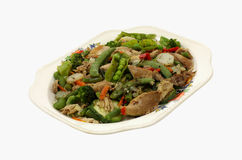 Stir Fry Chicken  and Vegetables  at an Angle Royalty Free Stock Photos