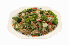 Stir Fry Chicken Vegetables Overhead View Royalty Free Stock Photography