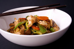 Stir fry and chop sticks Stock Image