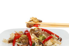 Stir fry chopsticks Stock Photography