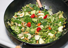 Stir Fry Cooking Royalty Free Stock Images