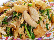 Stir fry fish maw with egg and vegetable Royalty Free Stock Photography