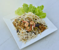 Stir-Fry Fish Maw. Stir fry fish maw with shrimp and crab  and vegetable in chinese style Stock Images