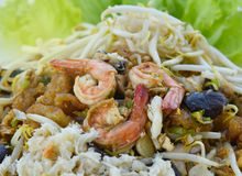 Stir-Fry Fish Maw. Stir fry fish maw with shrimp and crab  and vegetable in chinese style Royalty Free Stock Photography