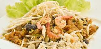 Stir-Fry Fish Maw. Stir fry fish maw with shrimp and crab  and vegetable in chinese style Stock Photos