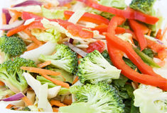 Stir fry - fresh vegetables royalty free stock photo