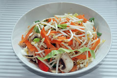 Stir Fry Ingredient (Veg). A range of chopped vegetables prepared for a stir fry Stock Photography