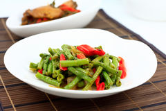 Stir fry long bean Royalty Free Stock Images