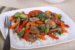Stir Fry Meal Royalty Free Stock Photography