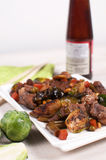 Stir Fry Meat And Vegetables With Sauce Stock Photos