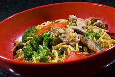 Stir-fry noodle bowl Royalty Free Stock Photography