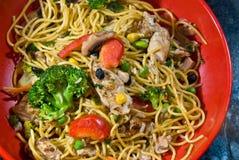 Stir-fry noodle bowl Stock Photos