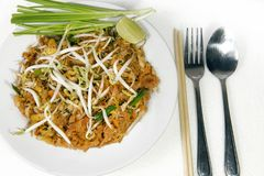 Stir fry noodles in pad thai style Stock Photo