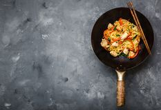 Stir fry noodles Royalty Free Stock Photography
