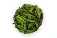 Stir Fry Peas, Snow Peas, sweet peas, isolated on white background royalty free stock photography