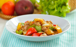 Stir fry pork with pepper chilli Royalty Free Stock Photography