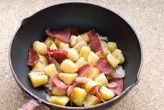 Stir fry potato Stock Images