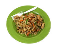 Stir Fry Rice Chicken Vegetables Angle Stock Photography
