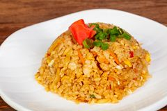 Stir fry rice with vegetables. And spices stock photo