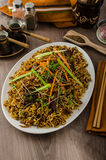 Stir Fry Singapore Noodles Royalty Free Stock Photography