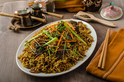Stir Fry Singapore Noodles Royalty Free Stock Image