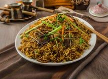 Stir Fry Singapore Noodles Stock Photo