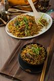Stir Fry Singapore Noodles Stock Images
