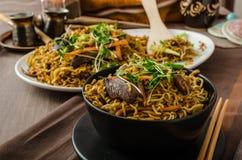 Stir Fry Singapore Noodles Stock Photography