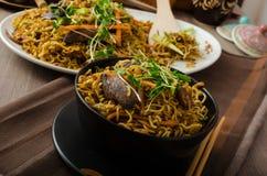 Stir Fry Singapore Noodles Stock Image