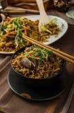 Stir Fry Singapore Noodles Royalty Free Stock Photo