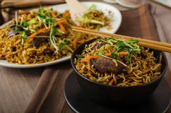 Stir Fry Singapore Noodles Stock Photography