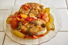 Stir fry spicy tuna Stock Photos