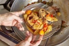 Stir fry spicy tuna Royalty Free Stock Photo