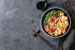 Stir Fry Udon Noodles Stock Photography