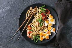 Stir fry udon noodles royalty free stock image