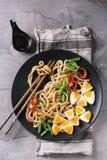 Stir fry udon noodles stock images