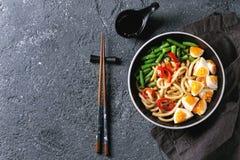 Stir fry udon noodles royalty free stock photo