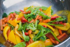 Stir fry vegetables as a background Stock Images
