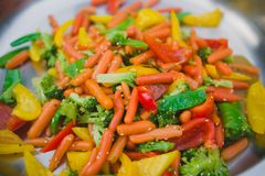Stir fry vegetables as a background Royalty Free Stock Photo