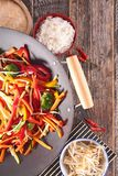 Stir fry vegetables Stock Photo