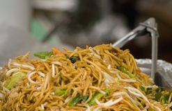 Stir-fry vegetables with noodles Royalty Free Stock Image