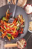 Stir fry vegetables Stock Image
