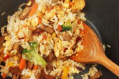 Stir fry in a wok Stock Image
