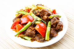 Stir frybeef meat Stock Images
